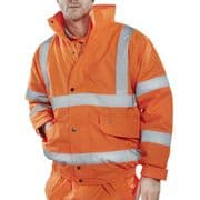 Hi-Vis Bomber Jacket - Orange