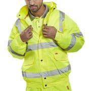 Hi-Vis Bomber Jacket - Yellow