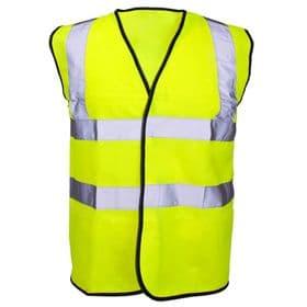 Hi-Vis Full Spec Waist Coat - Yellow