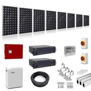 Plug-In-Solar 4kW (4000W) Hybrid Solar Power Kit with 4.8kWh Battery Storage