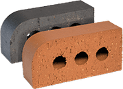 Smooth Blue Engineered Perforated Brick BN1.2