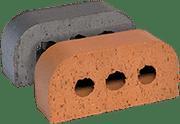 Smooth Blue Engineered Perforated Brick BN2.2