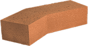 Smooth Red Engineered Perforated Brick AN3.2