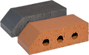 Smooth Red Engineered Perforated Brick PL2.2