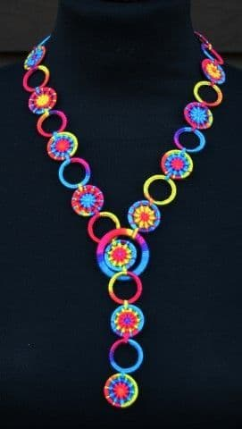 Dorset Button Jewellery Kit - Merivale Necklace Rainbow