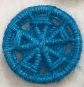 Dorset Button Kit - Flower Design, Blue (plant fibre)
