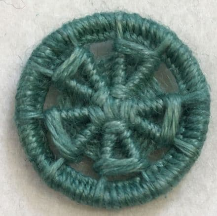 Dorset Button Kit - Flower Design, Sage (plant fibre)