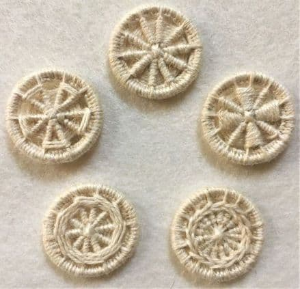 Dorset Button Kit - Multiple Style Dorset Button pack, Natural (Plant fibre)