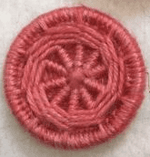 Dorset Button Kit - Yarrell Design, Coral (plant fibre)