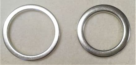Dorset Button Rings Flat Edge Zinc Alloy