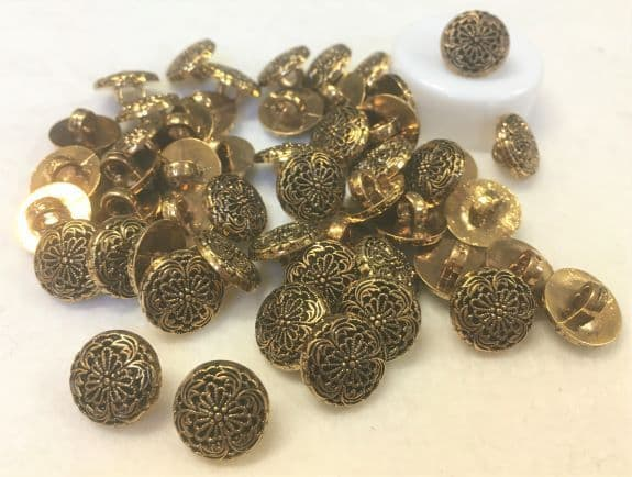 Gold Filagree Buttons