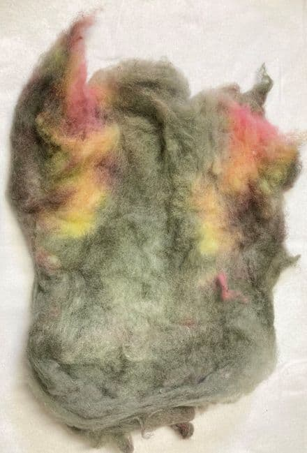 Hand Dyed Batt Banked Embers