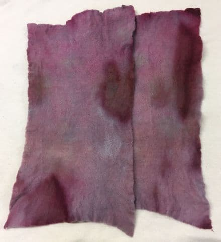 Hand Dyed Pre Felt Mulberry Stained