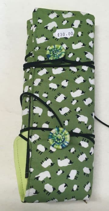 Interchangeable Circular Needle Roll Green Sheep