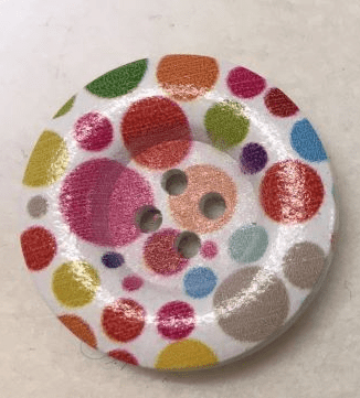 Large Painted Wooden Buttons
