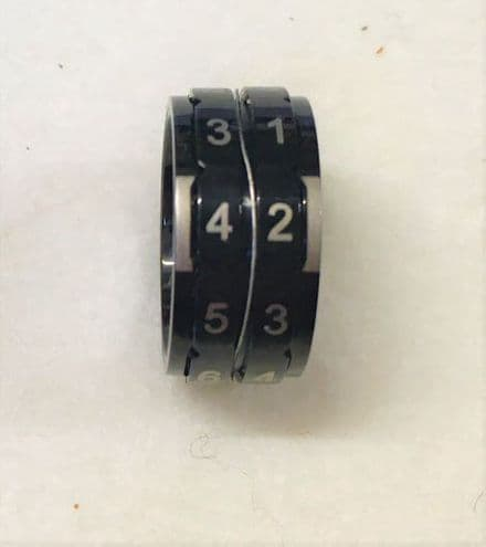 Row Counter Ring Black