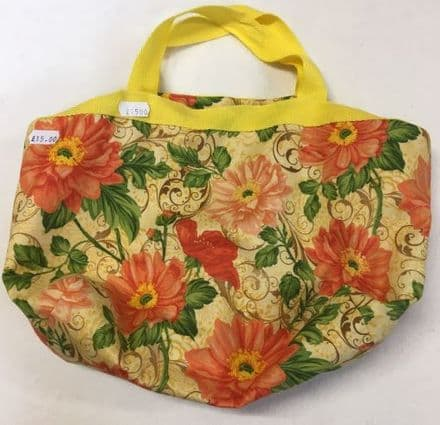 Size Change Project Bag Yellow Flowers