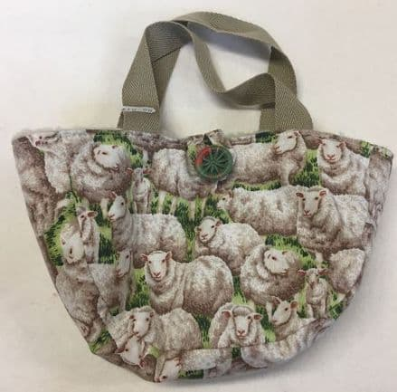 Sock Project Bag White Sheep