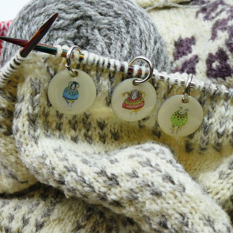 Stitch Marker Knitting - Sheep in Sweaters