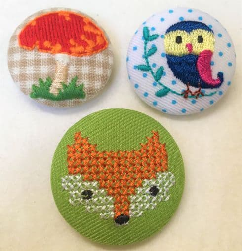 Stitched Fabric Buttons