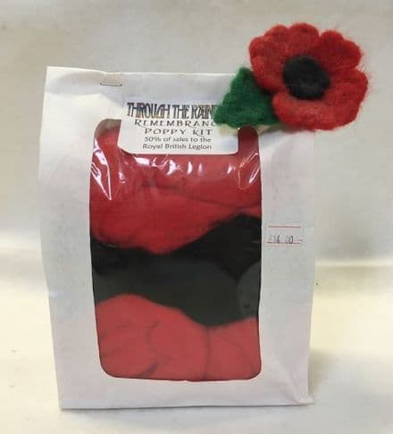 Through the Rainbow Needle Felting Poppies Kit