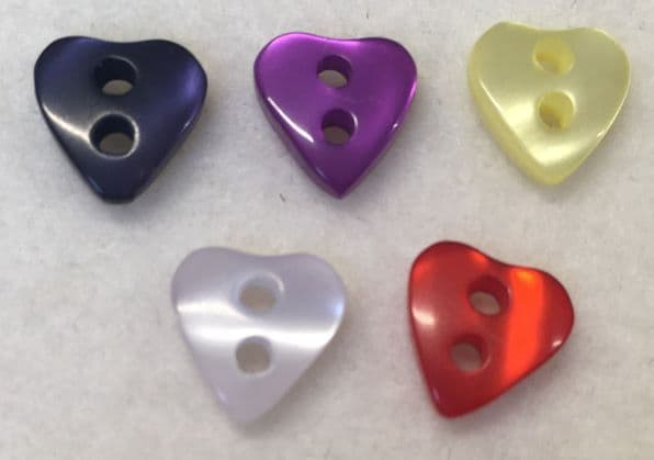 Tiny Heart Shaped Buttons