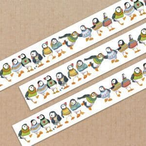 Washi Tape - Woolly Puffins