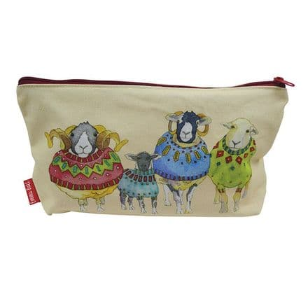 Zipped Pouch - Sheep in Sweaters