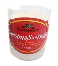 'Christmas in a Bottle' Glass Candle