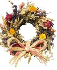 Dried Flower Twig Circle (2 sizes available)