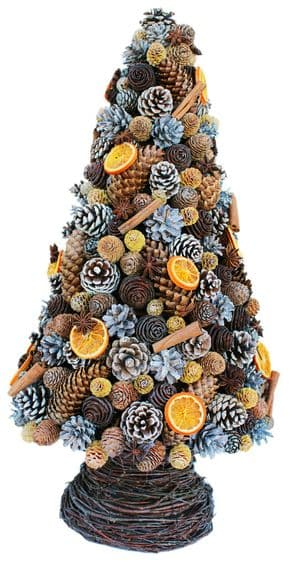 Winter Cone Trees with Orange Slices (Available in 3 sizes)