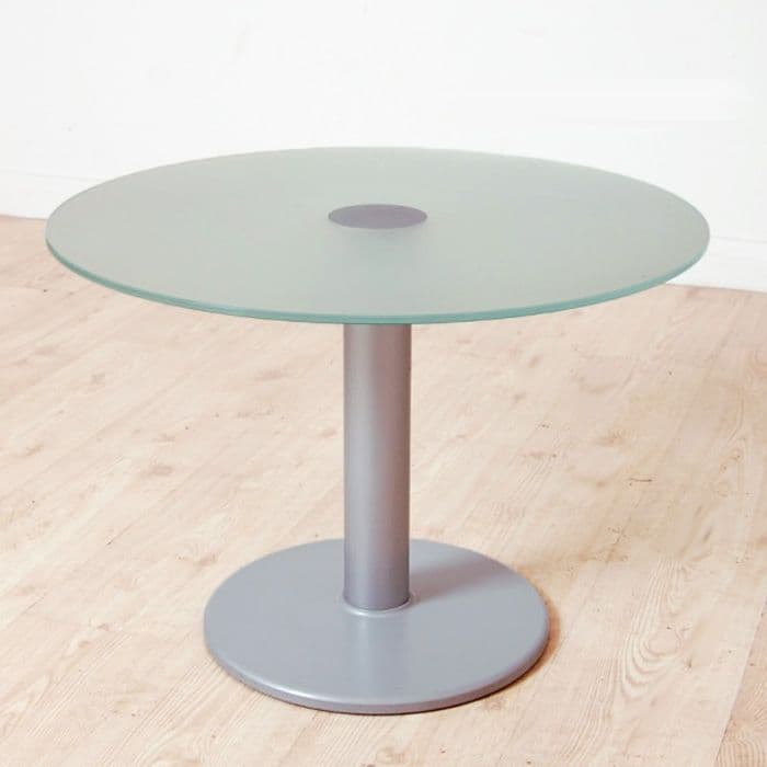 650mm diameter Round Glass Coffee Table | circular glass table | glass table on chrome base