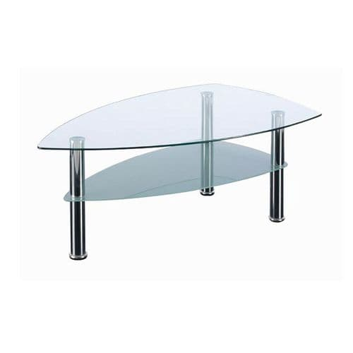 Boat shaped Glass Boardroom Table