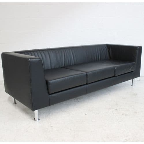 LUXY Cube Sofa  214 - Black Leather