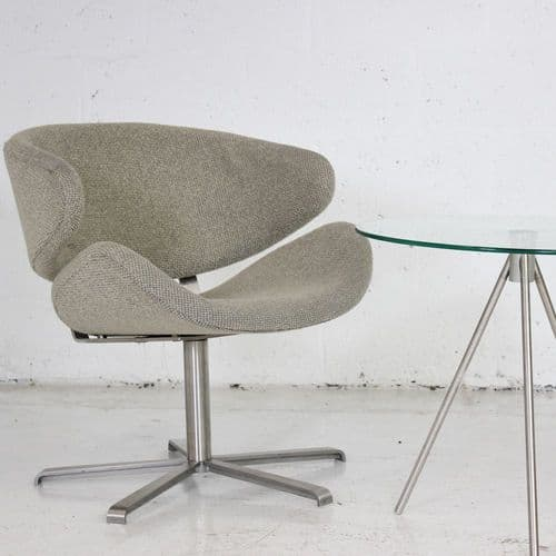 Low Reception Chair on Return Swivel Base  Price includes Re-upholstery in ANY COLOUR
