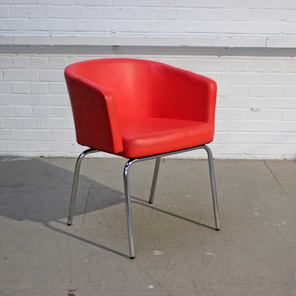 Zone Chair – Edge Design | Red Leather Chair | Red Tub Chair