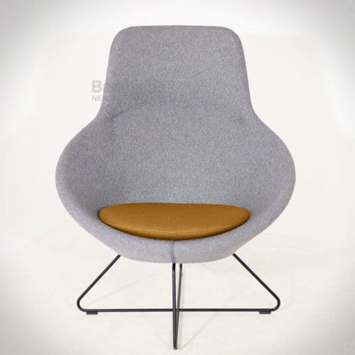 Allermuir Conic Open Lounge Chair - Grey/Yellow