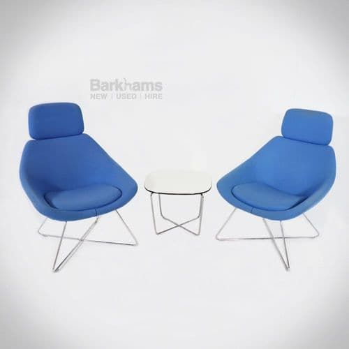 Allermuir Open Lounge Chair in Blue