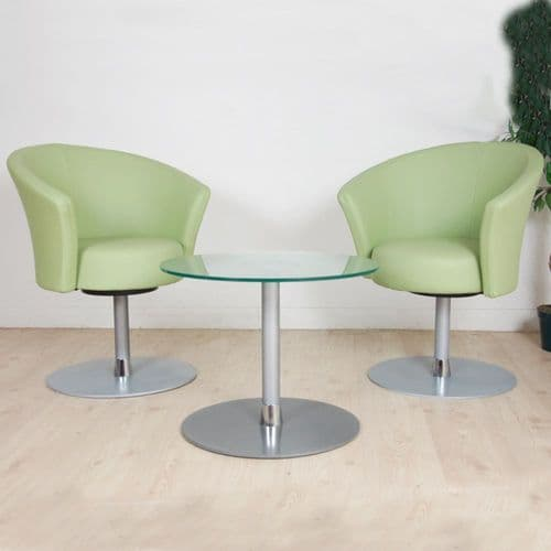 Apple Green Reception Chair on Swivel Base