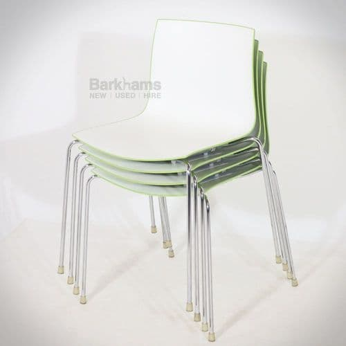 Arper Catifa Chairs - Green Back