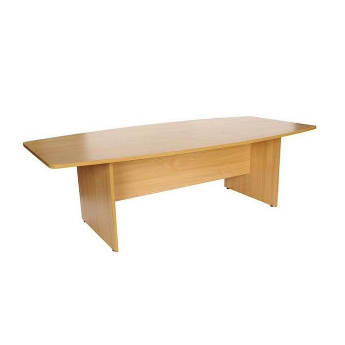Barrel Shaped Boardroom Table   wooden meeting table   boardroom table with panel base