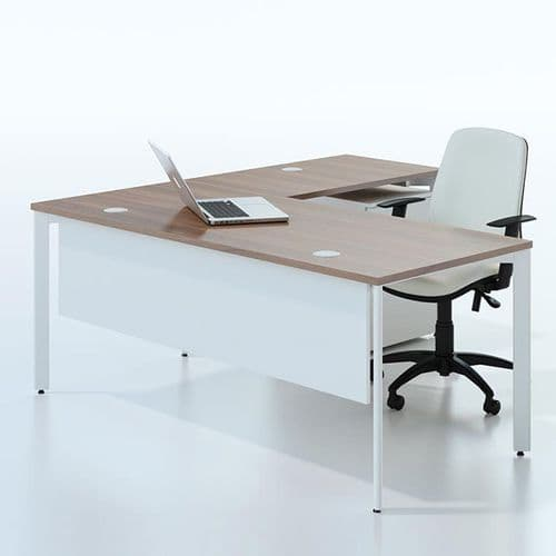 Bench Desk Radial With Modesty Panel