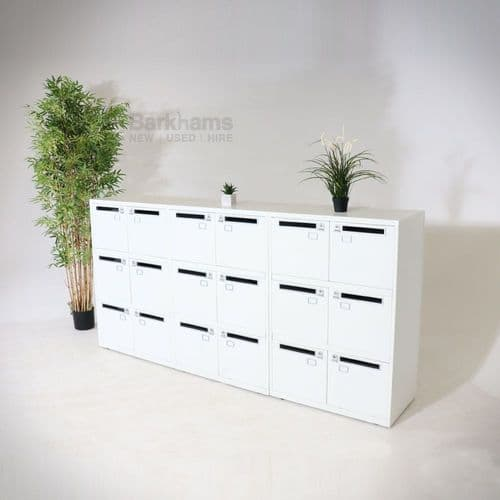 Bisley SystemFile Lockers in White