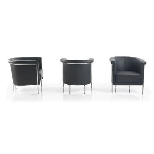 Black and Chrome Tub Chairs