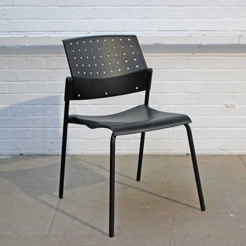Black Plastic Stacking Chair