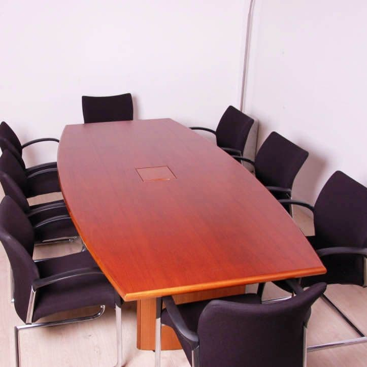 Boardroom Table in Walnut Veneer Finish | table with wooden base | rectangular meeting table