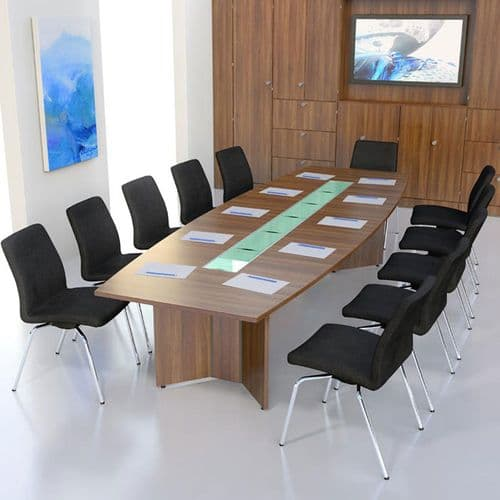 Boat Shaped Boardroom Table with MFC Finish