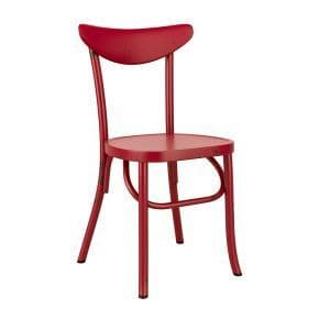 Breeze Side Chair - Retro Red| Retro diner chair | Rustic Cafe Chair