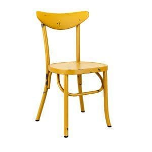 Breeze Side Chair - Retro Yellow | Retro diner chair | Rustic Cafe Chair
