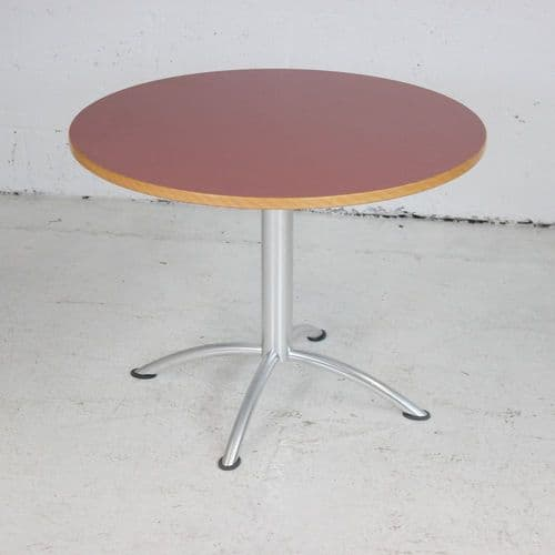 Canteen Table with Dark Pink Table Top